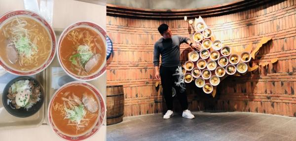 홋카이도의 명물 '미소라멘' 과 라멘도장의 상징물 (출처: 데일리팝)